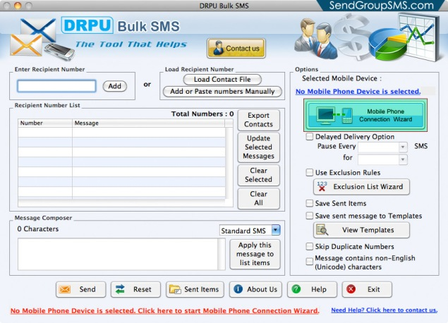 Mac Bulk SMS Software for Multi GSM mobile1